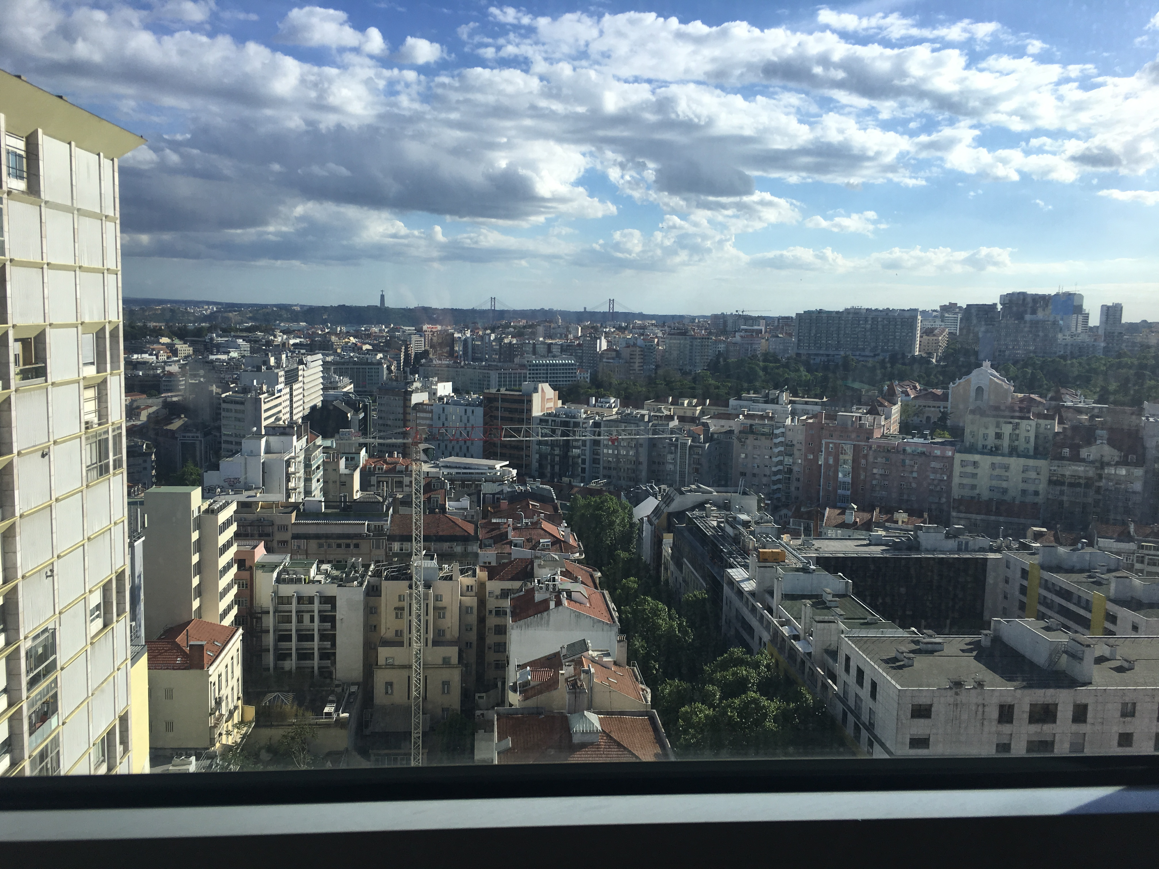 View from our hotel room in Lisbon
