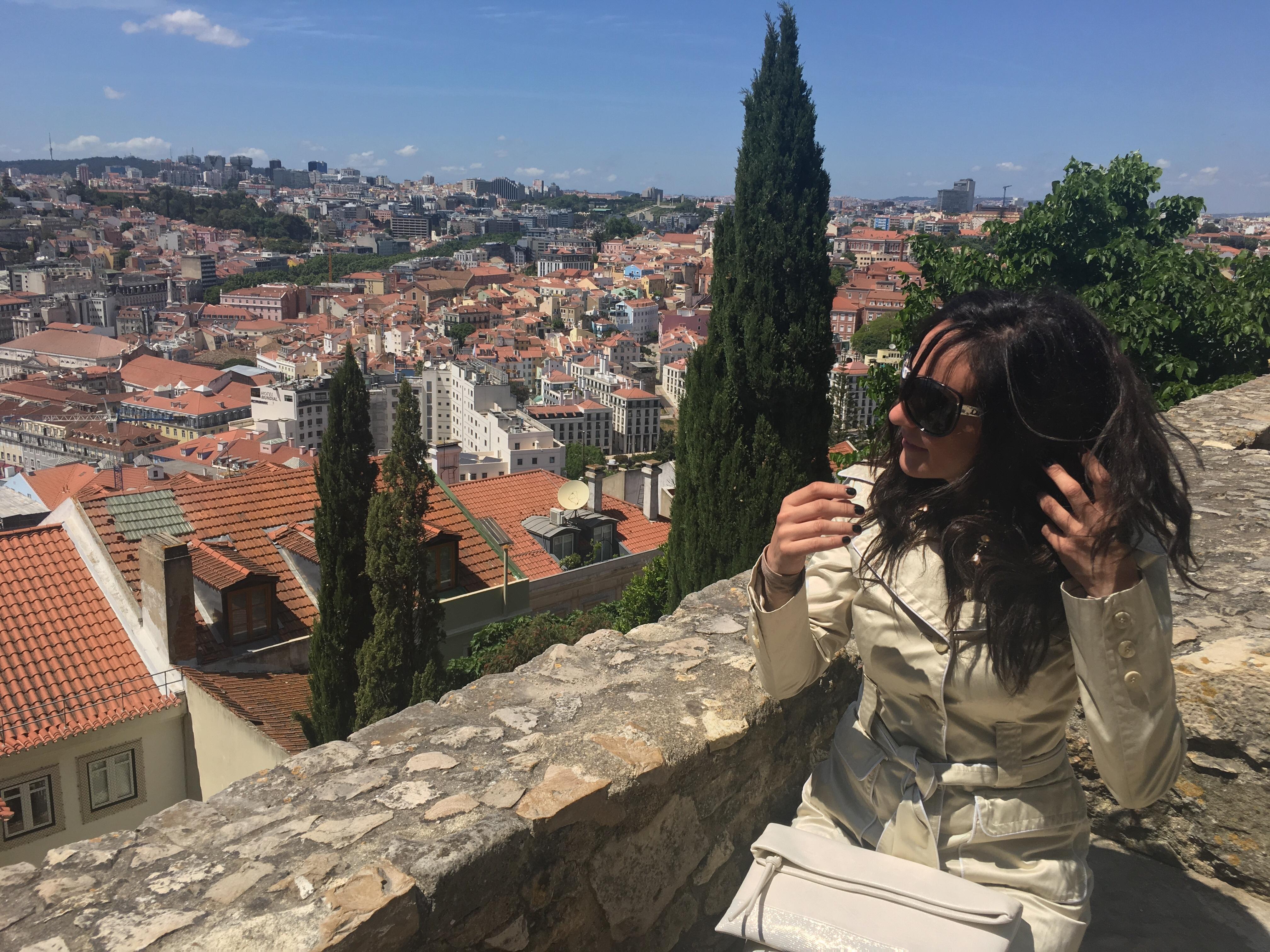 At Castelo de Sao Jorge | overlooking Lisbon