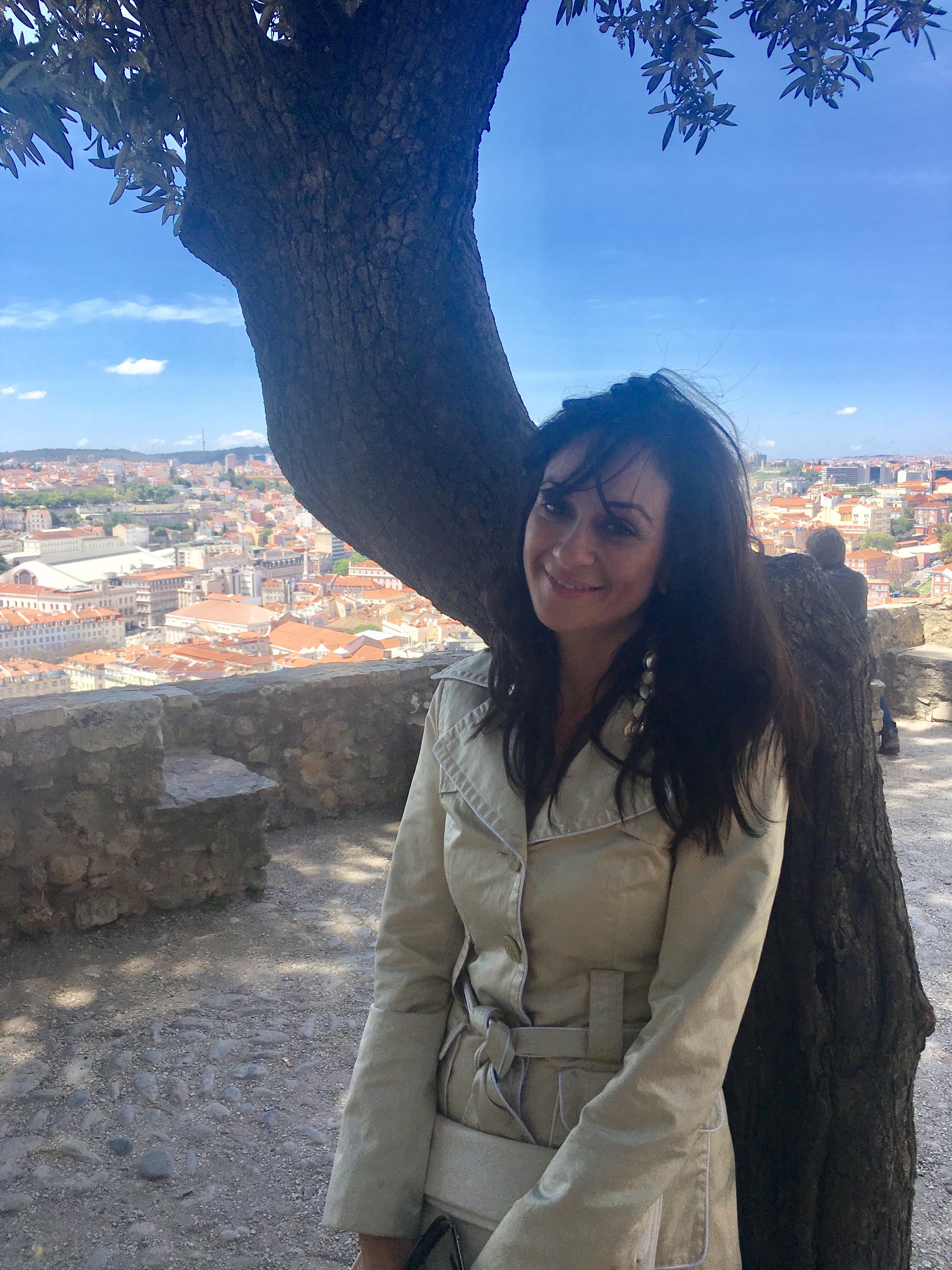 At Castelo de Sao Jorge with Mr. Big