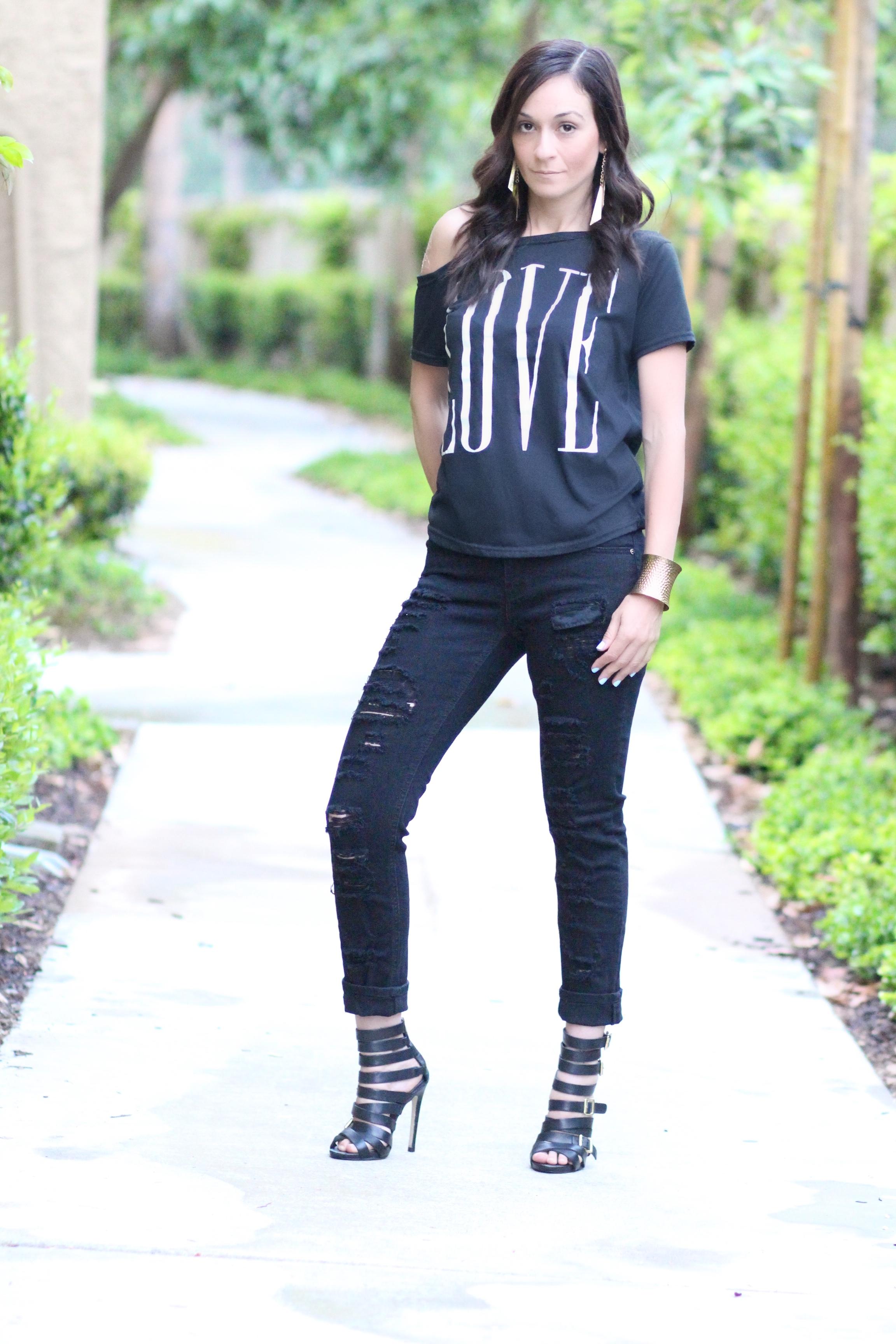 LOVE off the shoulder top | Kendall + Kylie Madden Milah sandal